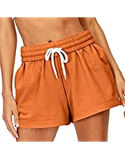wodceeke Womens Quick-Dry Running Shorts Sport Layer Elastic Waist Active Workout Shorts with Pockets Sweatpant