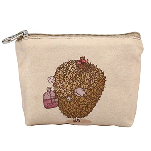 Butterfly Coin Wallet Cartoon Small Durian Women Purse Zipper Canvas Handbag Purses Iron Ladies Wallet gTgqCa