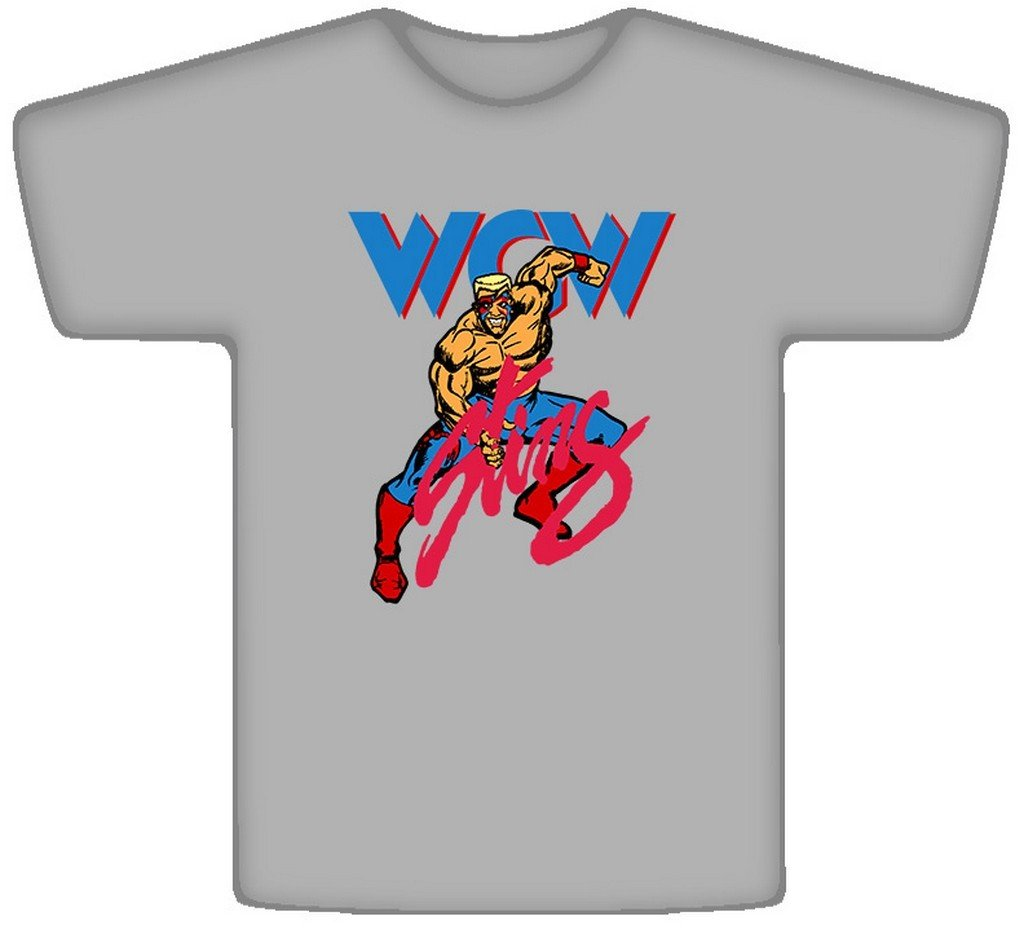 The Village T Shirt Shop Sting WCW Wrestling Retro T Shirt 2XL Sport Grey