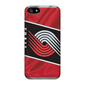 Shock-Absorbing Hard Phone Case For Iphone 5/5s With Customized Vivid Portland Trail Blazers Skin AaronBlanchette