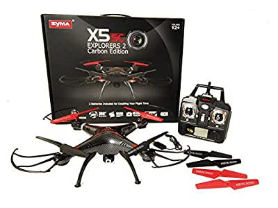 JMAZ Syma X5SC-CE Carbon Upgraded Version RC Quadcopter Drone UFO 2MP HD Camera 2 Batteries from SYMA