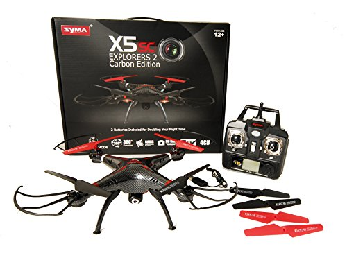 JMAZ-Syma-X5SC-CE-Carbon-Upgraded-Version-RC-Quadcopter-Drone-UFO-2MP-HD-Camera-2-Batteries