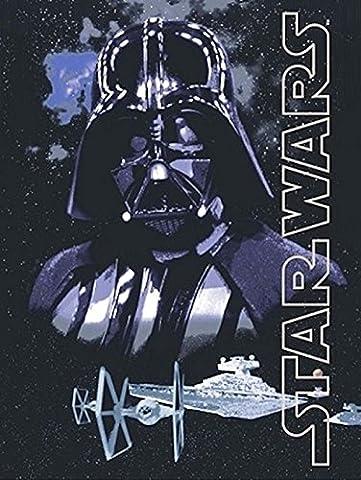 Disney Star Wars Darth Vader Dark Lord Super Soft Plush Oversized Twin Throw Blanket (Star Wars Darth Vader Blanket)