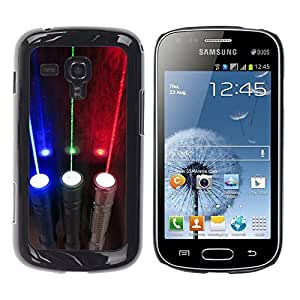Be Good Phone Accessory // Dura Cáscara cubierta Protectora Caso Carcasa Funda de Protección para Samsung Galaxy S Duos S7562 // Rgb Electric Optics Lights
