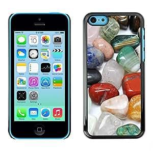 PC/Aluminum Funda Carcasa protectora para Apple Iphone 5C Protective Magical Stones Precious Colorful / JUSTGO PHONE PROTECTOR
