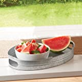 Better Homes and Gardens Galvanized Oval Tray