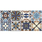 SHZONS Floor Peel & Stick European Vinyl Tile for Home Kitchen Bathroom Hotel Decoration 7.87 x 196.85 Inch