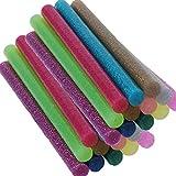 SaferCCTV 120pcs Hot Glue Gun Sticks Glitter Bling-bling Hot Melt Glue Sticks Mini for DIY Art Craft/PDR