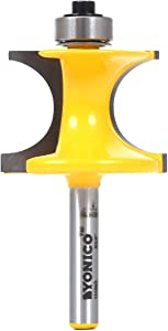 Yonico 13195q 3/4-Inch Bead Bullnose Bead Router Bit 1/4-Inch Shank