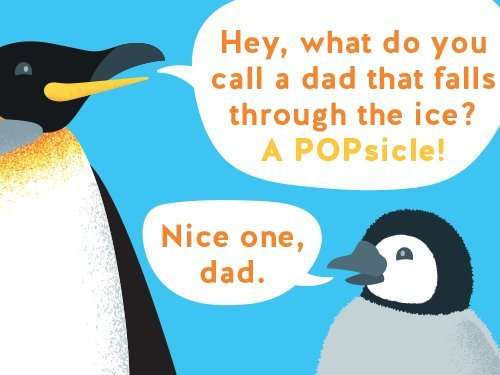 Penguins joke gift card link image