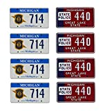 1:18 scale model Michigan State Police car license tag plates