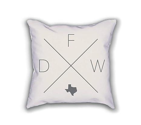 Dallas Fort Worth Home Pillowcase Cushion Texas Decor