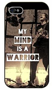 iPhone 4 / 4s My mind is a warrior, black plastic case / Ed Sheeran Inspirational and motivational life quotes / SURELOCK AUTHENTIC