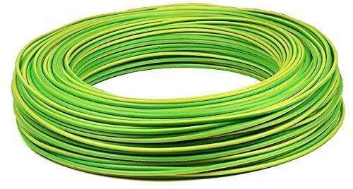 Verdrahtungsleitung H07 V-K 10 mm² - gelb / grün - 10 m Handelspunkt-Hohmann