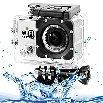 TESSAN SJ6000 WiFi HD 1080P Waterproof Outdoor Helmet Sport DV Digital Video Camera Recorder Diving Bicycle Action(white)