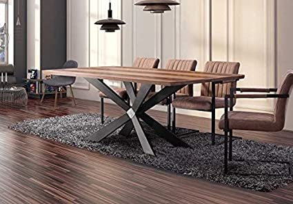 FurnitureboxUK® Georgio Grande table de salle à manger ...