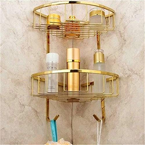 (Europe Antique Gold Bathroom Accessories Set Solid Brass Hardware Round Base Polished Bathroom Sets HH)