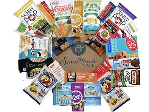 Gluten Free Snacks Care Package - GMO FREE Premium Snack Sampler - Valentines Day Gift Box of Healthy Bars, Chips, Nuts and Delicious To-Go Food for Office, Students Celiac (30 Count)