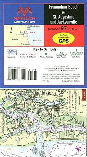 Maptech Waterproof Chart Fernandina Beach to St. Augustine and Jacksonville, 1st Edition