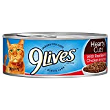Cheap 9Lives Hearty Cuts With Real Beef & Chicken In Gravy Wet Cat Food, 5.5-Ounce Cans (6 – 4 Pack)
