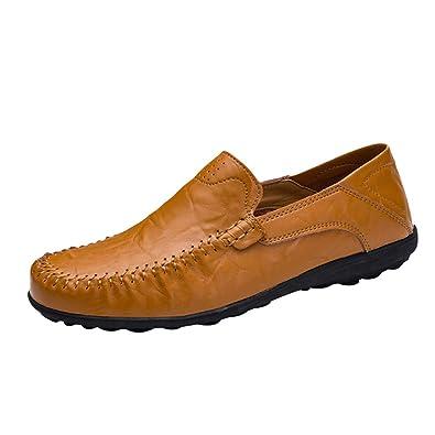 hibote Classic Cuero Loafer - Mocasines Hombre: Amazon.es: Zapatos y complementos