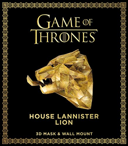 Game of Thrones Mask: House Lannister Lion (3D Mask & Wall Mount) ()