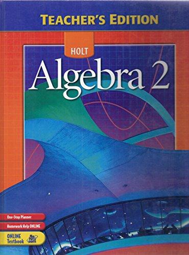 Algebra 2, Teachers Edition