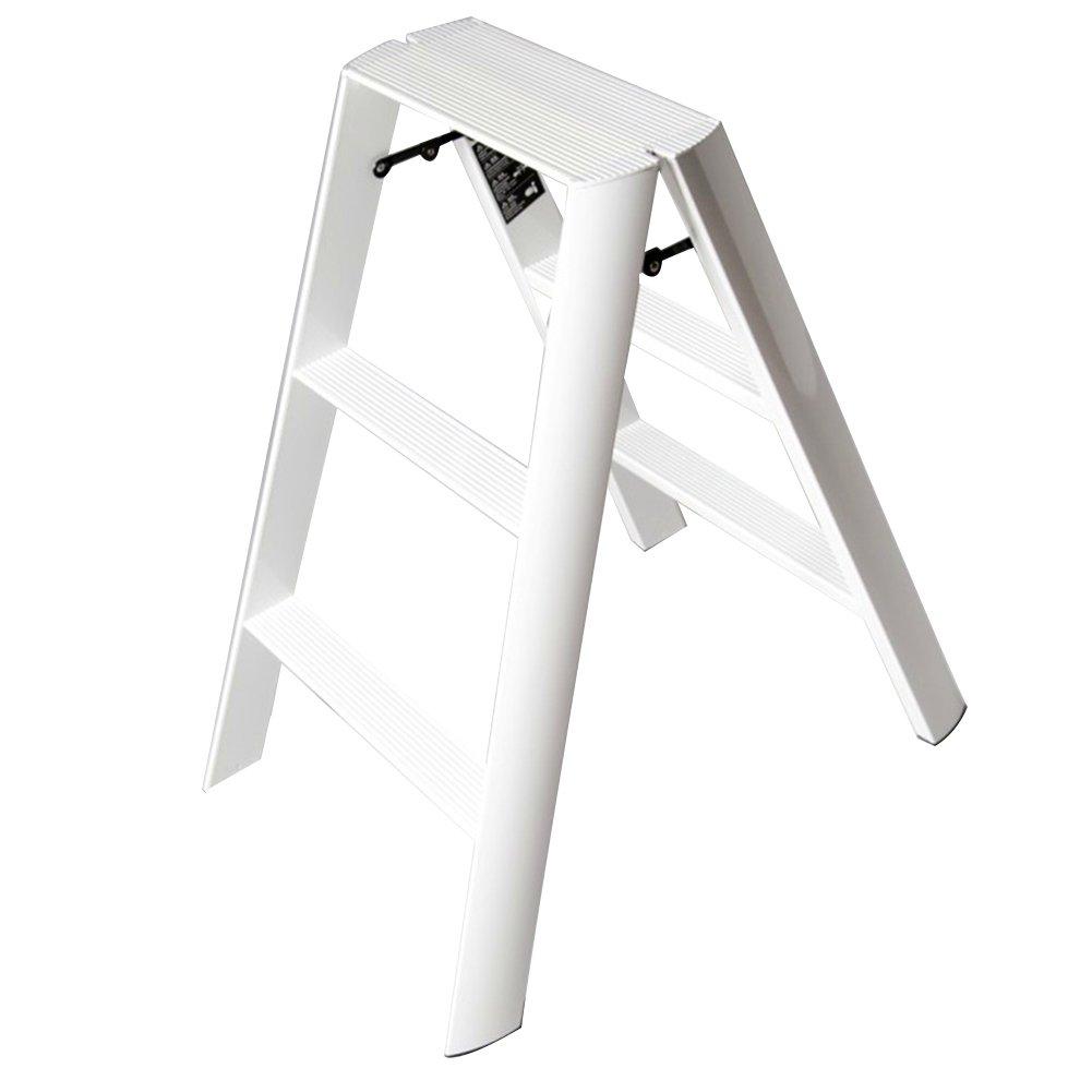 PENGFEI 折りたたみステップチェア 多機能 屋内 ヘリンボーンラダー 家の装飾 フラワースタンド バスルーム キッチン フットスツール 2/3ステップ、 4色 脚立 踏み台ステップ チェア (色 : 白, サイズ さいず : 54x75x80CM) B07DL7LZDY 54x75x80CM 白 白 54x75x80CM