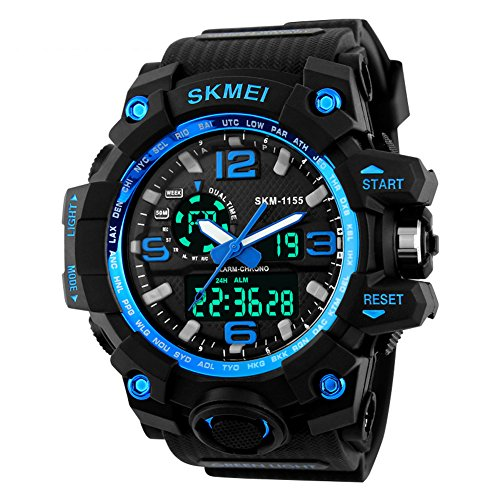 SKMEI 30M Waterproof Blue Light LED Watch (Red) - 6