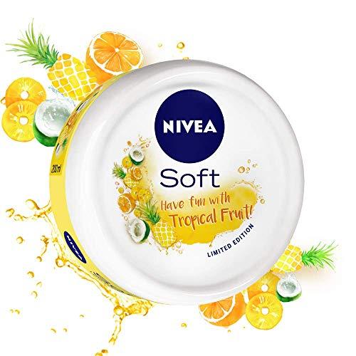 NIVEA Soft, Light Moisturising Cream, Tropical Fruit, 100ml