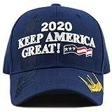 The Hat Depot Exclusive 45th President Trump Make America Great Again 3D Cap (2020Trump-Navy)