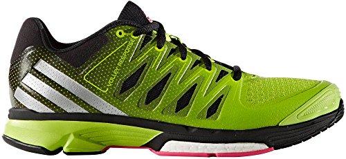 adidas Women's Volley Response 2 Boost W Shoe, Semi Solar Slime/Metallic Silver/Black, 8.5 M US (Solar Boost)