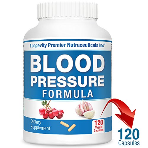 (Longevity Blood Pressure Formula [120 Capsules] - with 12+ Natural Herbs. Best Blood Pressure Supplement)