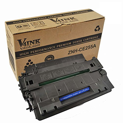 V4INK New Compatible HP CE255A HP 55A Toner Cartridges-6,000 Page Yield