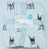 Kitt and layla Boston Terriers French Bulldog Luxary Plush QUEEN Blanket 90 X 90 IN