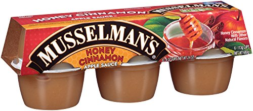 Musselman's Honey Cinnamon Apple Sauce, Six 4-Ounce Cups (Pack of 12)