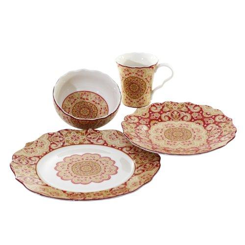 Buy 222 fifth lyria saffron 16-piece dinnerware set