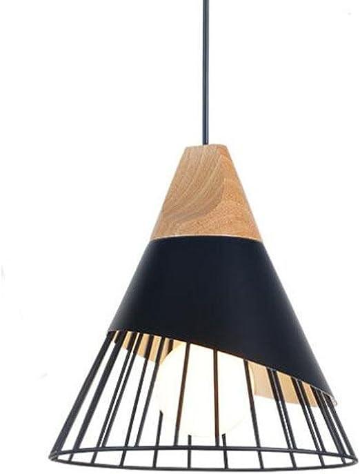Zaofan Lustre Suspension Lampe Aluminium Bois Cage Creatif Cone Moderne Eclairage Blanc Noir Interieur Ikea Restaurant Salon Chambre Etude Entrance Luminaire Applique Black 25cm Amazon Fr Luminaires Et Eclairage