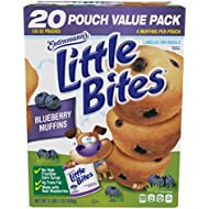 || Entenmann's | Little Bites | Blueberry Muffins | 2 LBS 1 OZ | 936g | 20 Pouches 80 Muffins |Delicious | Yummy |Tasty | 1 Box ||