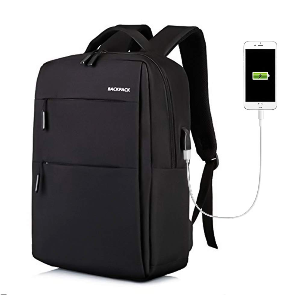Klinsten Waterproof and Scratchproof Travel Backpack for Men Elegant Design Laptop Backpack with USB Charging Port Size 18.8 x 12.2 x7.2 Inch