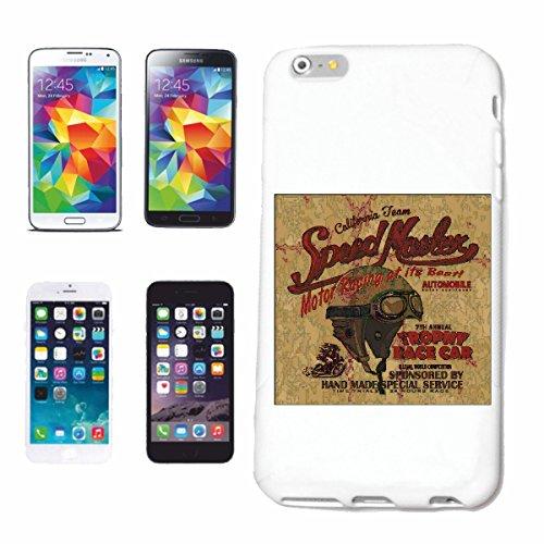 "cas de téléphone iPhone 6S ""SPEEDMASTER CALIFORNIA ÉQUIPE RACING MOTOR RACING RACE FORMULA MOTOR SPEEDWAY ÉQUIPE SPEED CLASSIC AMERICAN"" Hard Case Cover Téléphone Covers Smart Cover pour Apple iPhone"