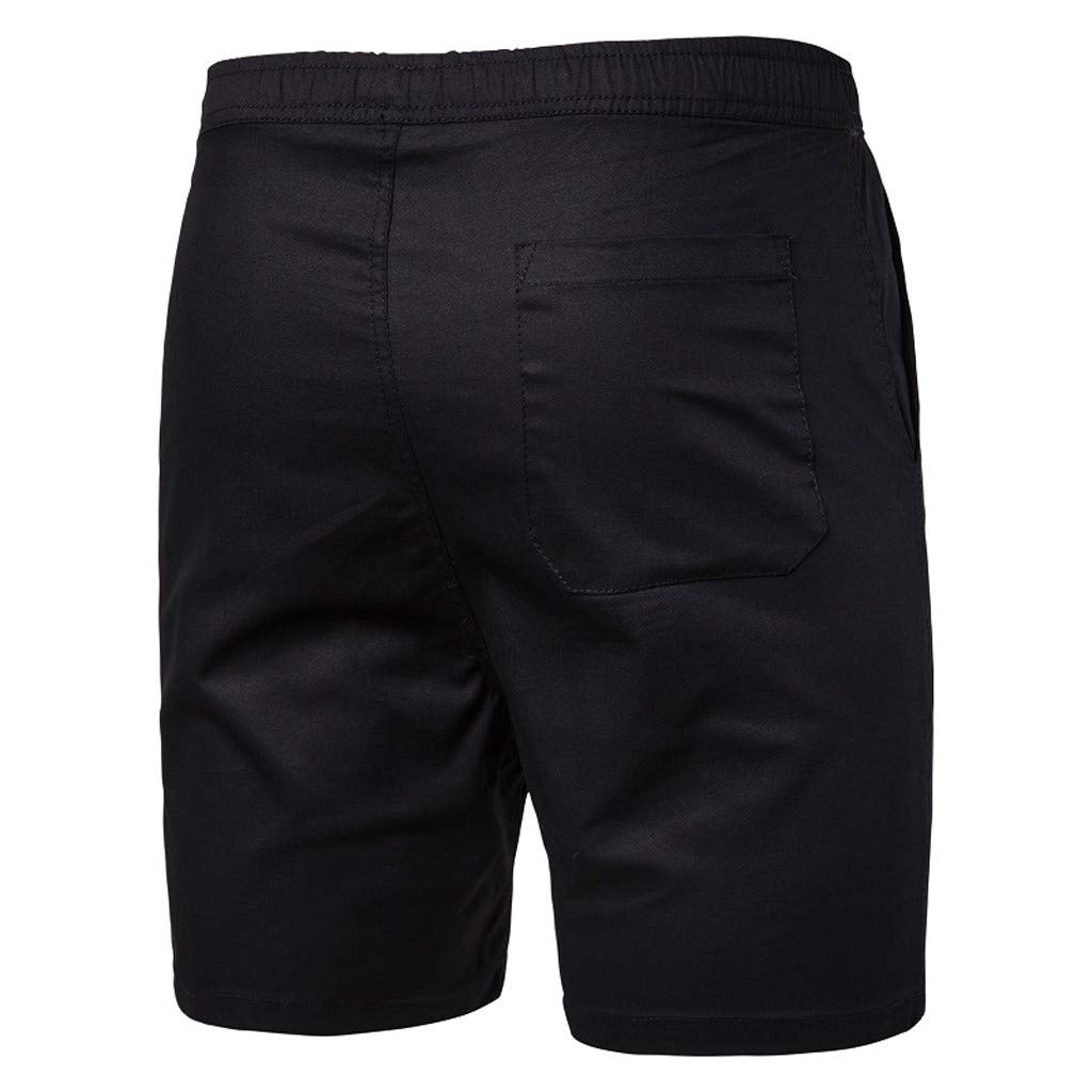 Allywit Mens Shorts Plus Size Elastic Waist Drawstring Cotton Loose Fit Casual Lightweight Outdoor Pocket Pants