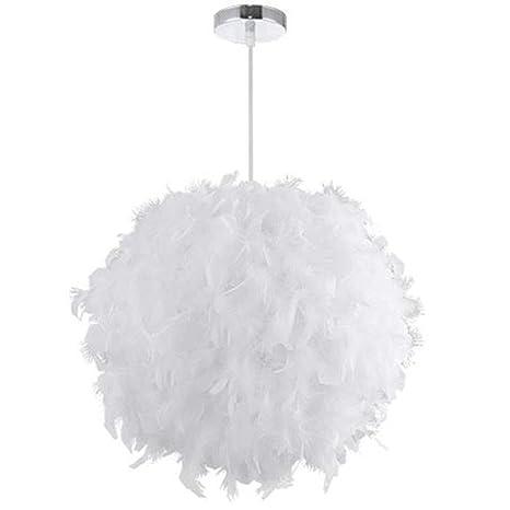 Lámpara de techo colgante de plumas blancas, estilo nórdico ...