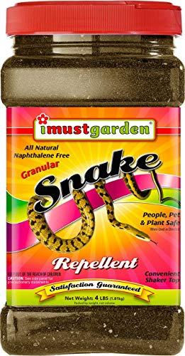 I Must Garden Snake Repellent: Natural and Pet Safe – Drives Snakes Away, Keeps Them Out – 4lb Granular in Easy Shaker Jar
