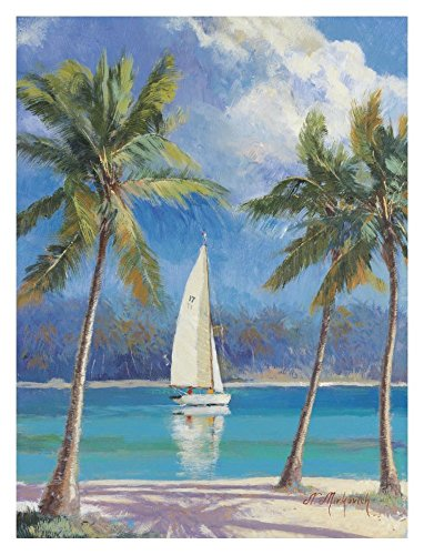 Global Gallery N. Mirkovich Island Breeze-Giclee on Paper Print-Unframed-32 x 24 in Image Size, 32