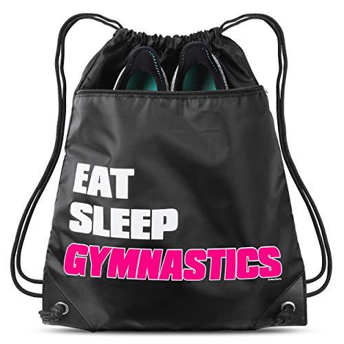 Eat Sleep Gymnastics Sack Drawstring Bag For Youth Girls Boys Kids 18