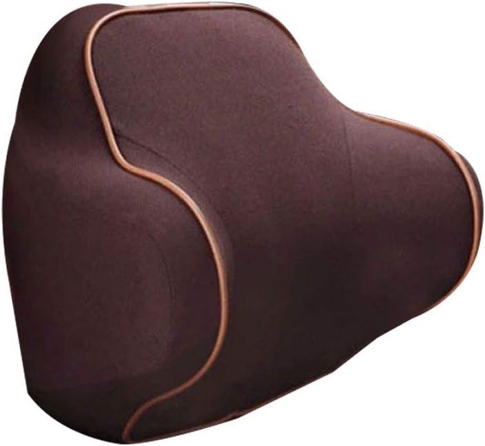Grebest Car Headrest Pillow Car/Seats/Accessoires Car Cushion Car Seat Headrest Neck Head Support Cushion Slow Rebound Memory Cotton Pillow Brown