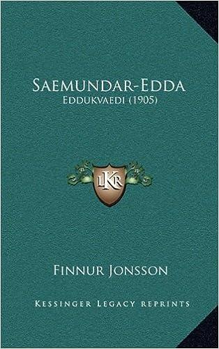 Book Saemundar-Edda: Eddukvaedi (1905) (Icelandic Edition) by Finnur Jonsson (2010-09-10)