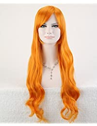 "Cool2day® Cosplay 32"" Long Body Wave Curly Heat Resistant Hair Party Full Wig JF1286 (Orange)"