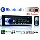 Eaglerich 12V Car Stereo FM Radio MP3 Audio Player built in Bluetooth Phone with USB SD MMC Port Car radio bluetooth In-Dash 1 DIN ISO connector